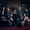 Picture shows: D.I. Lestrade (RUPERT GRAVES), Mary Watson (AMANDA ABBINGTON), John Watson (MARTIN FREEMAN), Mrs Hudson (UNA STUBBS), Mycroft Holmes (MARK GATISS), Sherlock Holmes (BENEDICT CUMBERBATCH) and Molly Hooper (LOUISE BREALEY).