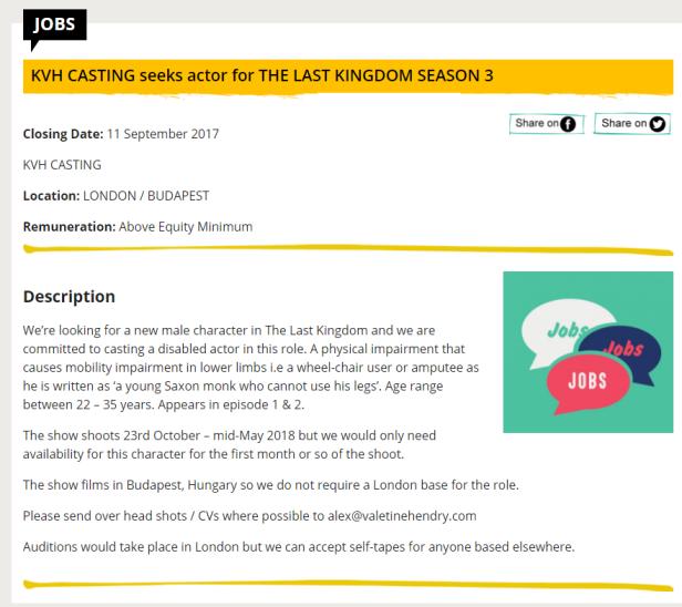 The Last Kingdom_S3_Casting