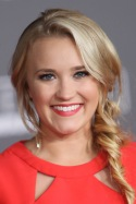 """HOLLYWOOD, CA - DECEMBER 10: Actress Emily Osment arrives at the premiere of Walt Disney Pictures and Lucasfilm's """"Rogue One: A Star Wars Story"""" at the Pantages Theatre on December 10, 2016 in Hollywood, California. (Photo by David Livingston/Getty Images)"""
