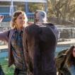 Jenna Elfman as Naomi, Alycia Debnam-Carey as Alicia Clark; group - Fear the Walking Dead _ Season 4, Episode 4 - Photo Credit: Richard Foreman, Jr/AMC