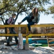 Alycia Debnam-Carey as Alicia Clark, Jenna Elfman as Naomi; group - Fear the Walking Dead _ Season 4, Episode 4 - Photo Credit: Richard Foreman, Jr/AMC