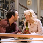 """YOUNG & HUNGRY - """"Young & Third WheelÓ - Josh decides to set Sofia up with someone, in hopes sheÕll be less of a third wheel in his and GabiÕs relationship.Ê But when Sofia hits it off with JoshÕs dentist, Gabi isnÕt so sure heÕs the right one for her friend.Ê Meanwhile, Elliot turns to Yolanda for help in reigniting the spark between him and Alan.Ê Guest starring Bryan Safi, Lainie Kazan, and series star Aimee CarreroÕs real life husband Tim Rock. This episode of """"Young & HungryÓ airs Wednesday, June 20 (8:30 - 9:00 p.m. EDT) on Freeform. (Freeform/Tony Rivetti) JONATHAN SADOWSKI, EMILY OSMENT"""