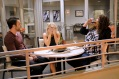 """YOUNG & HUNGRY - """"Young & Third WheelÓ - Josh decides to set Sofia up with someone, in hopes sheÕll be less of a third wheel in his and GabiÕs relationship.Ê But when Sofia hits it off with JoshÕs dentist, Gabi isnÕt so sure heÕs the right one for her friend.Ê Meanwhile, Elliot turns to Yolanda for help in reigniting the spark between him and Alan.Ê Guest starring Bryan Safi, Lainie Kazan, and series star Aimee CarreroÕs real life husband Tim Rock. This episode of """"Young & HungryÓ airs Wednesday, June 20 (8:30 - 9:00 p.m. EDT) on Freeform. (Freeform/Tony Rivetti) JONATHAN SADOWSKI, EMILY OSMENT, KYM WHITLEY"""