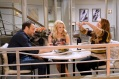 """YOUNG & HUNGRY - """"Young & Third WheelÓ - Josh decides to set Sofia up with someone, in hopes sheÕll be less of a third wheel in his and GabiÕs relationship.Ê But when Sofia hits it off with JoshÕs dentist, Gabi isnÕt so sure heÕs the right one for her friend.Ê Meanwhile, Elliot turns to Yolanda for help in reigniting the spark between him and Alan.Ê Guest starring Bryan Safi, Lainie Kazan, and series star Aimee CarreroÕs real life husband Tim Rock. This episode of """"Young & HungryÓ airs Wednesday, June 20 (8:30 - 9:00 p.m. EDT) on Freeform. (Freeform/Tony Rivetti) JONATHAN SADOWSKI, EMILY OSMENT, AIMEE CARRERO"""