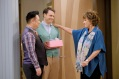 """YOUNG & HUNGRY - """"Young & Third WheelÓ - Josh decides to set Sofia up with someone, in hopes sheÕll be less of a third wheel in his and GabiÕs relationship.Ê But when Sofia hits it off with JoshÕs dentist, Gabi isnÕt so sure heÕs the right one for her friend.Ê Meanwhile, Elliot turns to Yolanda for help in reigniting the spark between him and Alan.Ê Guest starring Bryan Safi, Lainie Kazan, and series star Aimee CarreroÕs real life husband Tim Rock. This episode of """"Young & HungryÓ airs Wednesday, June 20 (8:30 - 9:00 p.m. EDT) on Freeform. (Freeform/Tony Rivetti) REX LEE, BRYAN SAFI, LAINIE KAZAN"""