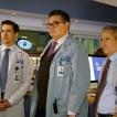 "CHICAGO MED -- ""Be My Better Half"" Episode 401 -- Pictured: (l-r) Nate Santana as Jimmy Lanik, Oliver Platt as Dr. Daniel Charles, Eddie Jemison as Dr. Stanley Stohl -- (Photo by: Elizabeth Sisson/NBC)"