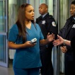 """CHICAGO MED -- """"Death Do Us Part"""" Episode 409 -- Pictured: (l-r) Marlyne Barrett as Maggie Lockwood, S. Epatha Merkerson as Sharon Goodwin -- (Photo by: Elizabeth Sisson/NBC)"""